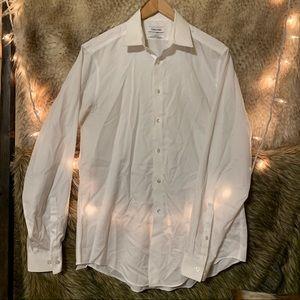 Calvin Klein White Button Down Dress Shirt